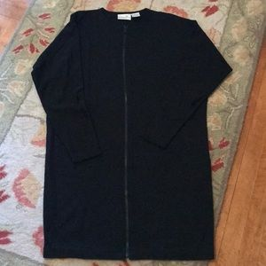 Liz Claiborne Dresses full zip black dress